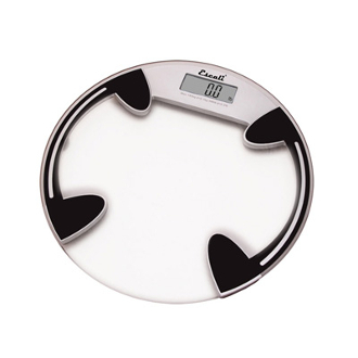 Round Glass Platform Bathroom Scale